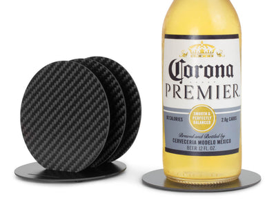 Carbon fiber coasters with a Corona