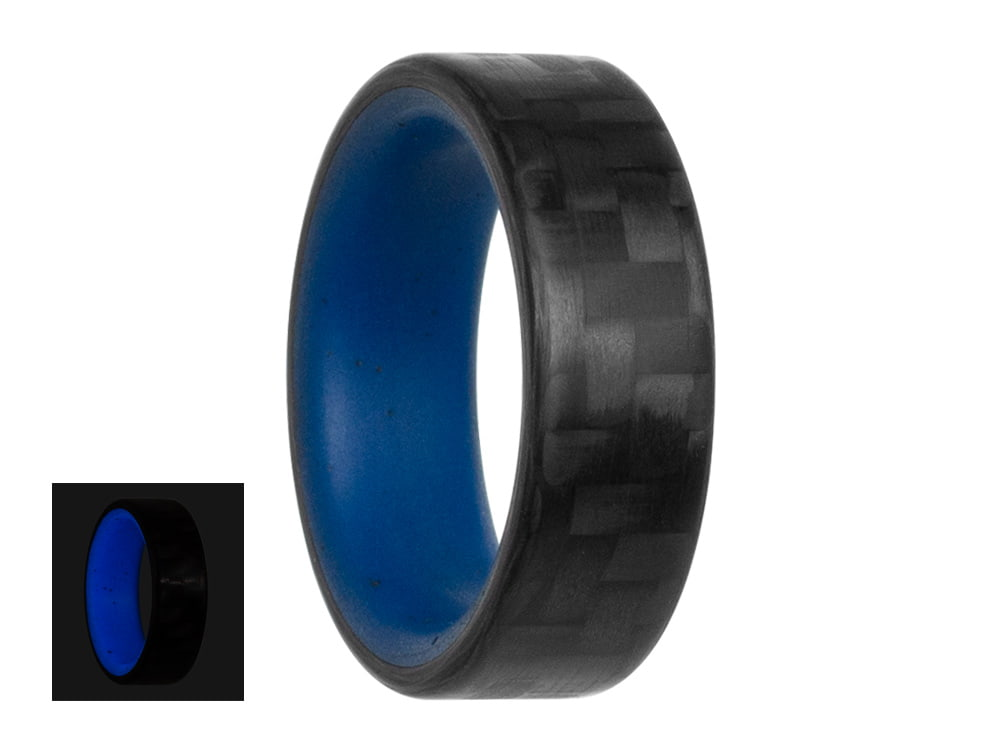 Blue Racer Carbon Fiber Glow Ring by Element Ring Co | 7 Cool Gifts For Nerds in 2020