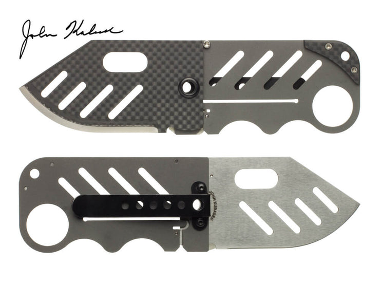 Creditor Carbon Fiber Credit Card Knife by John Kubasek