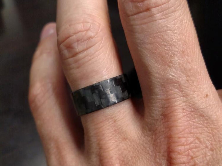 Lumineer Carbon Fiber & ChromaGlow Ring by Element Ring Co. - on hand