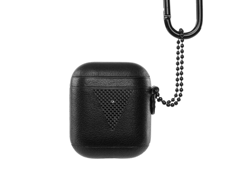 HoverPod NAPA Leather with Carbon Fiber Airpods Case with chain