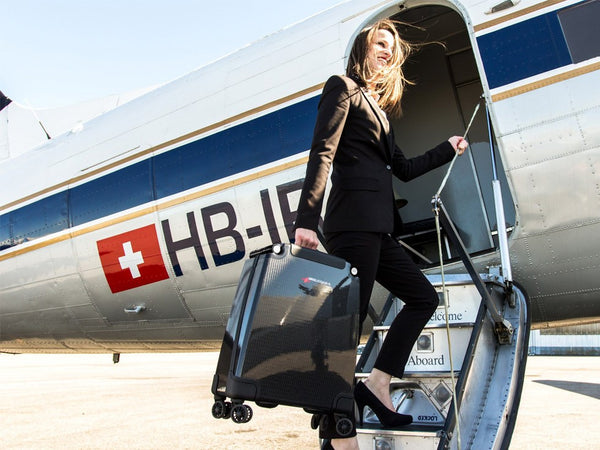 Swiss Luggage Carbon Fiber Suitcase