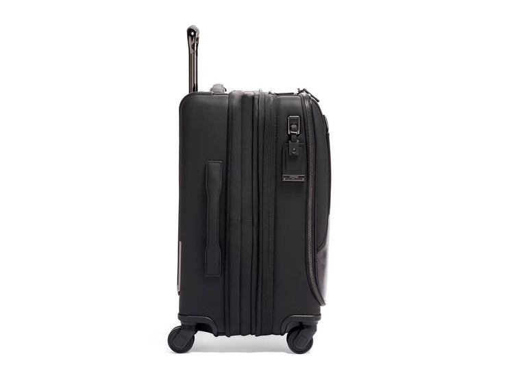 Tumi International Dual Access 4 Wheeled Carbon Fiber Carry-On Suitcase, side