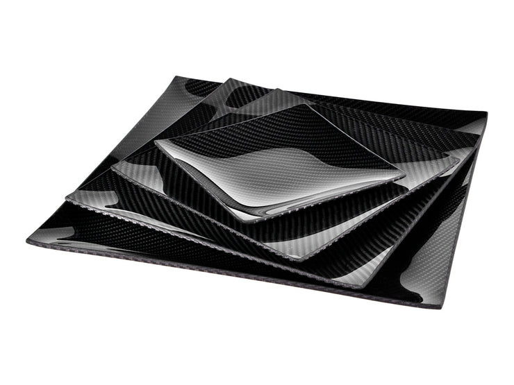 Dobreff Design carbon fiber square plate, all 4 sizes turned
