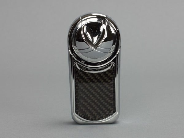 Dobrev III Triple Jet Flame Chrome & Carbon Fiber Lighter