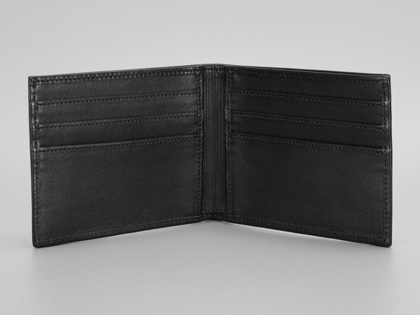 Londono Carbon Fiber and Leather All Black Sports Wallet