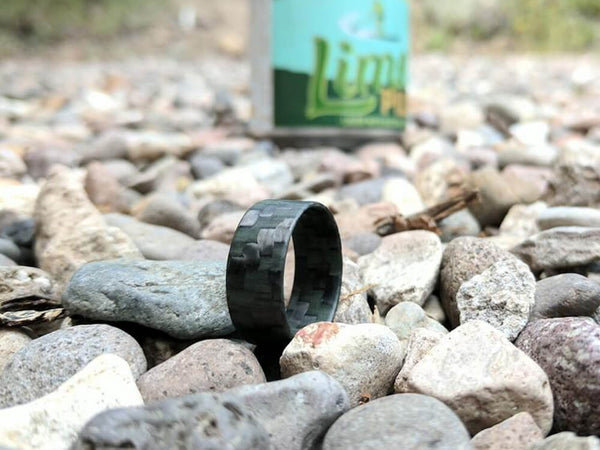 Lumineer Carbon Fiber & ChromaGlow Ring by Element Ring Co. lifestyle