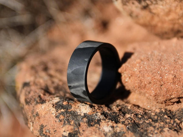 Ranger Filament Carbon Fiber Ring by Element Ring Co. lifestyle on rocks