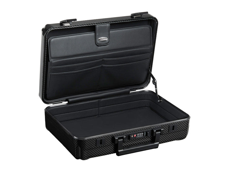 Zero Halliburton Carbon Fiber Attache Case open