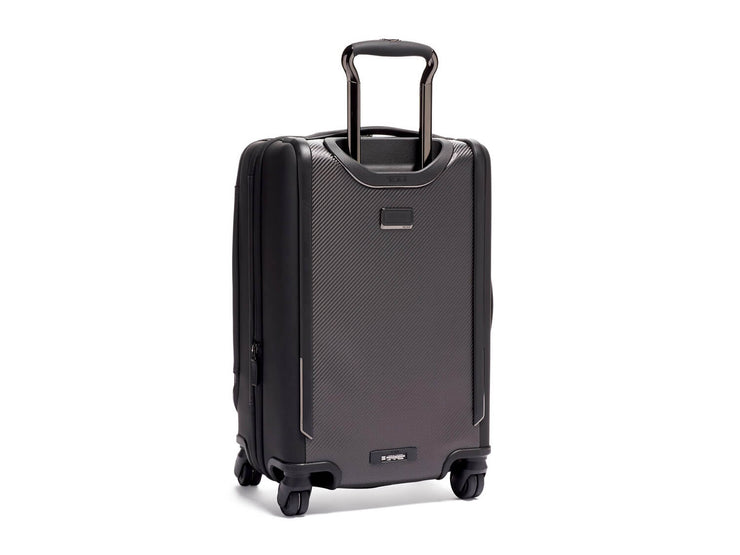 Tumi International Dual Access 4 Wheeled Carbon Fiber Carry-On Suitcase, back