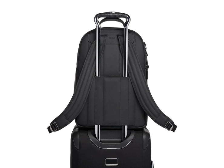 Tumi Marlow Carbon Fiber Backpack, on luggage