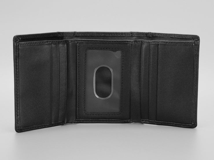 Tri-Fold Carbon Fiber & Leather Wallet