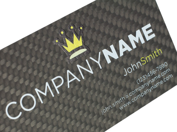 Custom Real Carbon Fiber Business Cards