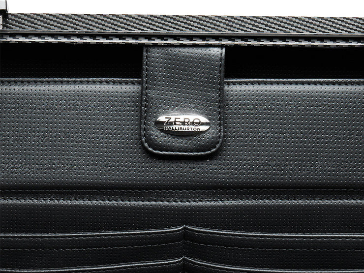 Zero Halliburton Carbon Fiber Attache Case inside