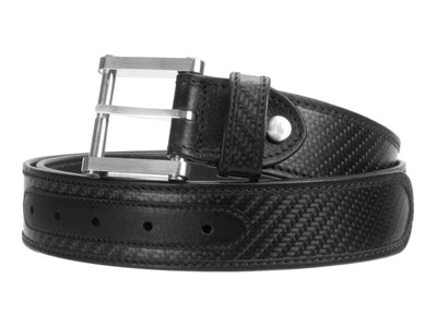 Londono Carbon Fiber & Leather Tank Belt - Black