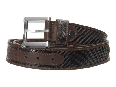 Londono Carbon Fiber & Leather Tank Belt - Brown