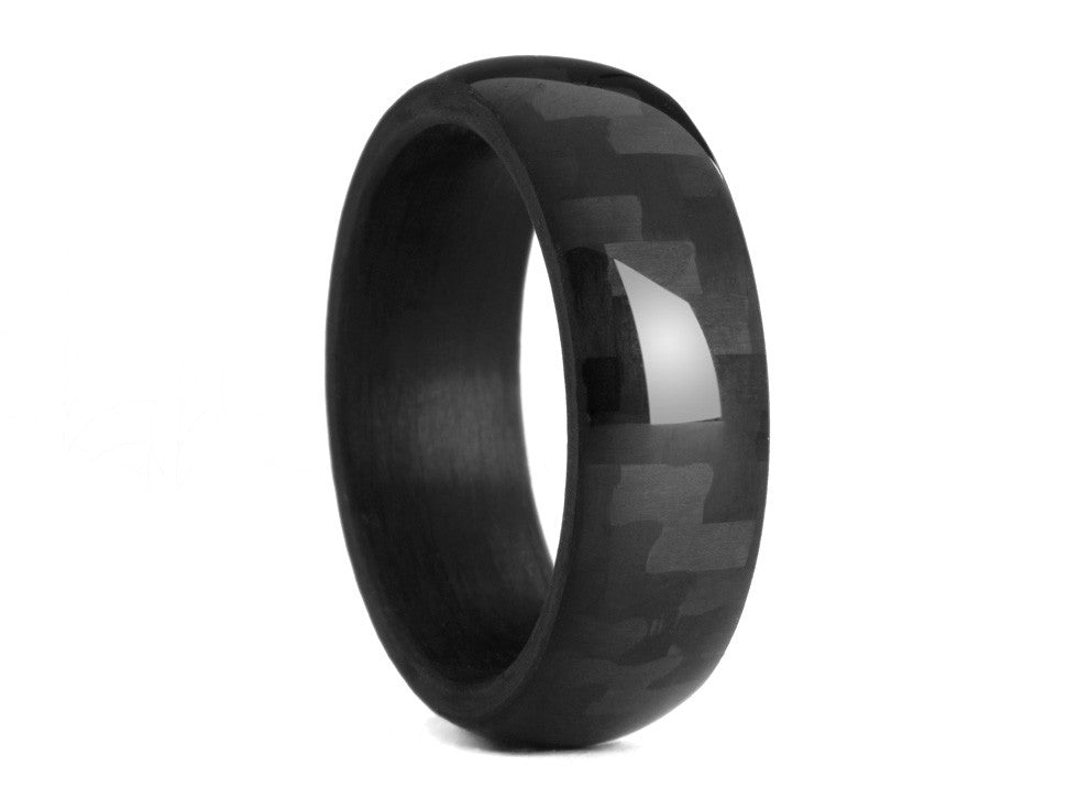 oliver paul brookline carbon fiber ring - Carbon Fiber Wedding Rings