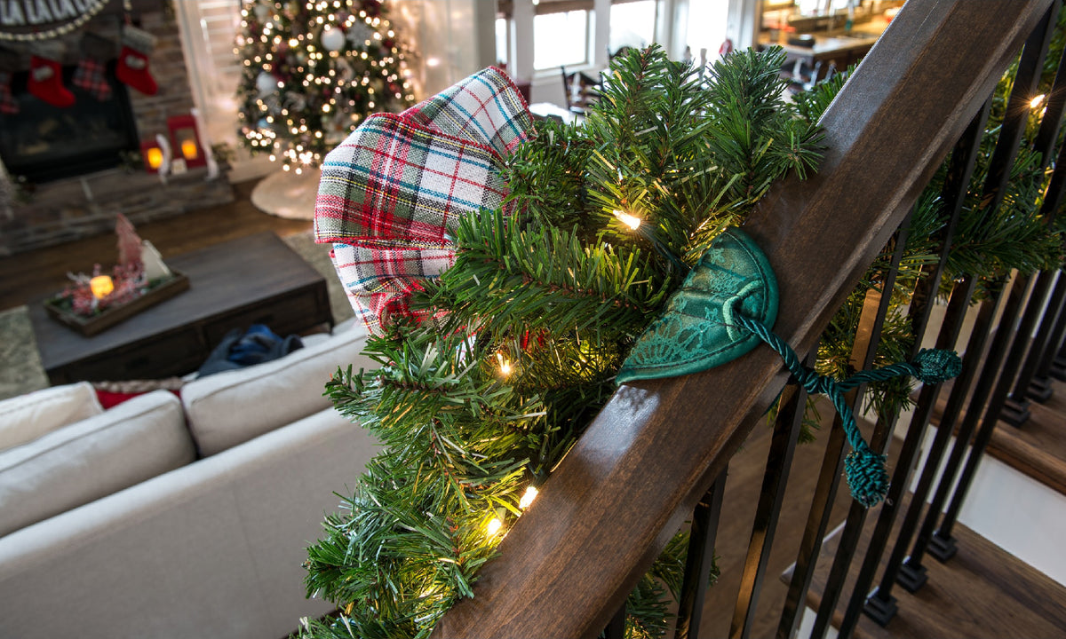 Banister Saver™ Garland Ties | Village Lighting Company