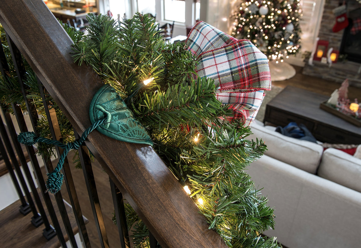 Banister Protecting Garland Ties