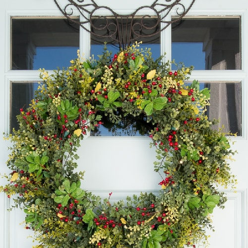 Village Lighting Lights - Christmas Wreath and Wreath Hanger