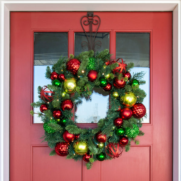 Festive Holiday Wreath - 30""