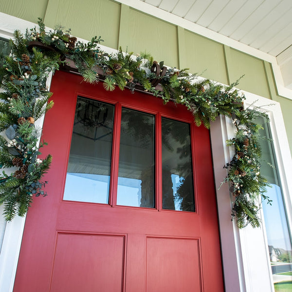 Rustic White Berry Garland - 9ft.