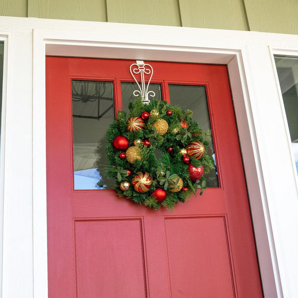 "Christmas Classic Red and Gold Wreath - 24"" (unlit)"