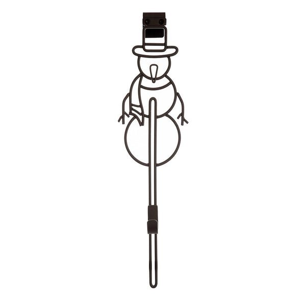 Wreath Hanger - Snowman Vertical Adjustable Hanger by Village Lighting Company