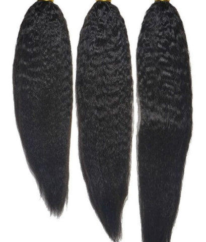 Brazilian Kinky Straight Hair Extensions-Bundle Deal