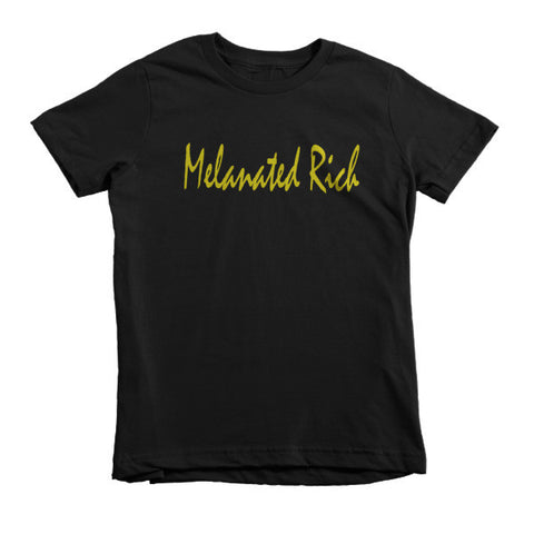 Melanated Rich (1st Edition Gold)-Short Sleeve Kids T-Shirt, , Melanated Rich, Melanated Rich- Melanated Rich