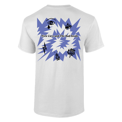 BLUE LOVELY CREATURE WHITE T-SHIRT