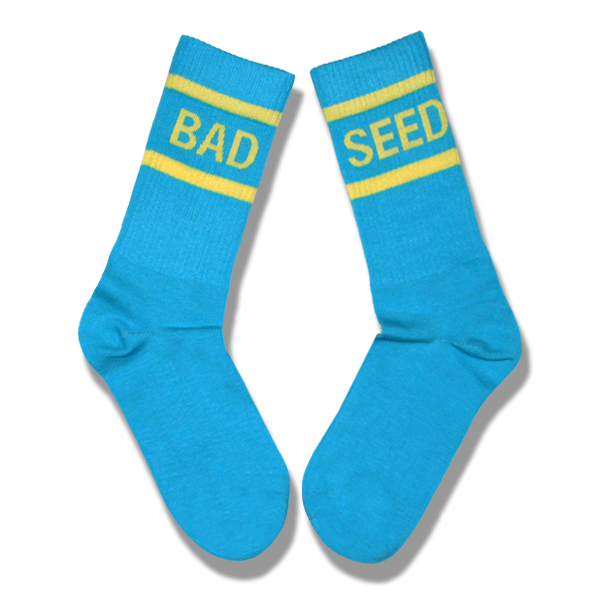 BAD SEED  BLUE & PINK TUBE SOCKS SET
