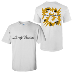 YELLOW LOVELY CREATURE WHITE T-SHIRT