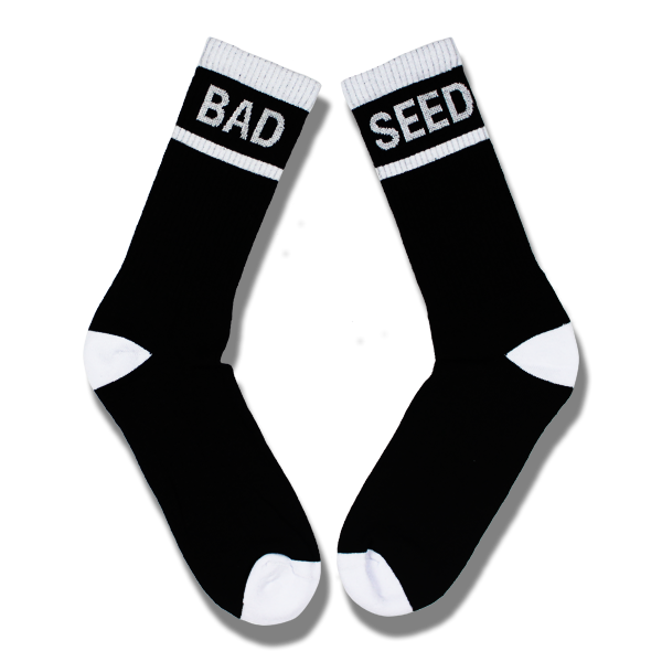 NEW BAD SEED WHITE & BLACK TUBE SOCKS SET
