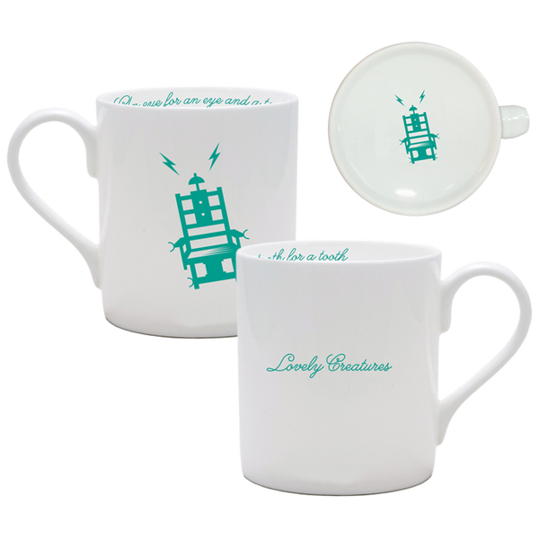 THE MERCY SEAT WHITE CHINA MUG