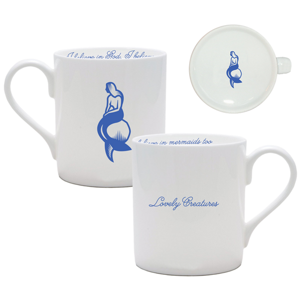 MERMAIDS WHITE CHINA MUG