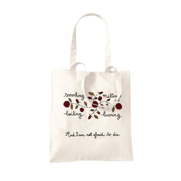 SMOKING, MELTING NATURAL TOTE BAG