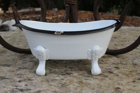 Enamel Bathtub Soap Dish - Idaho Soap Company