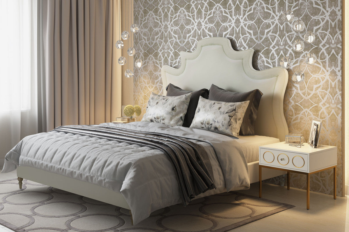 Serenity Velvet Bed in Queen