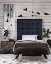 Load image into Gallery viewer, Eden Grey Velvet Bed in Twin