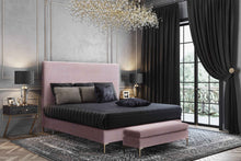 Load image into Gallery viewer, Delilah Textured Velvet Bed in Queen