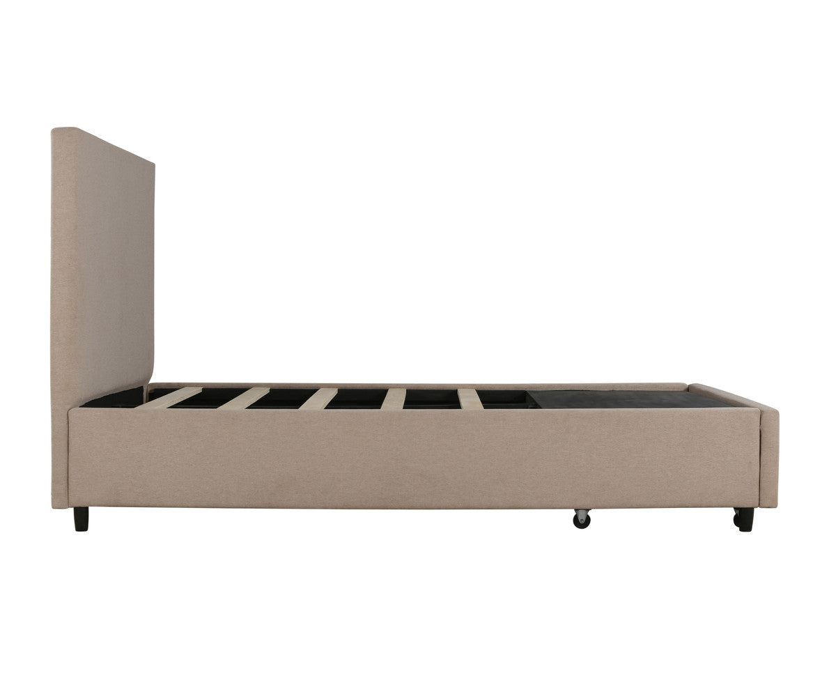 Edgar Beige Storage Bed Queen