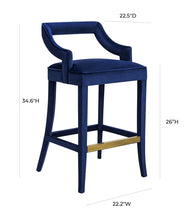 Load image into Gallery viewer, Tiffany Velvet Counter Stool