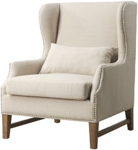 Load image into Gallery viewer, Devon Linen Wing Chair