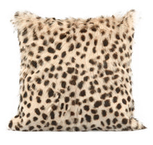 "Load image into Gallery viewer, Leopard Print Goatskin 20"" Pillow"