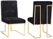 Load image into Gallery viewer, Akiko Black Velvet Chair (Set of 2)