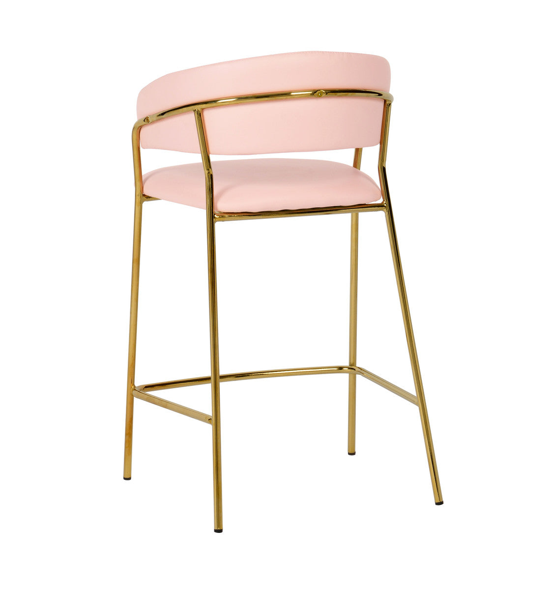 Padma Velvet/Vegan Leather Counter Stool (Set of 2)