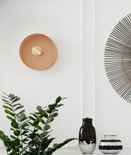 Load image into Gallery viewer, Mokhtar Blush Round Wall Sconce