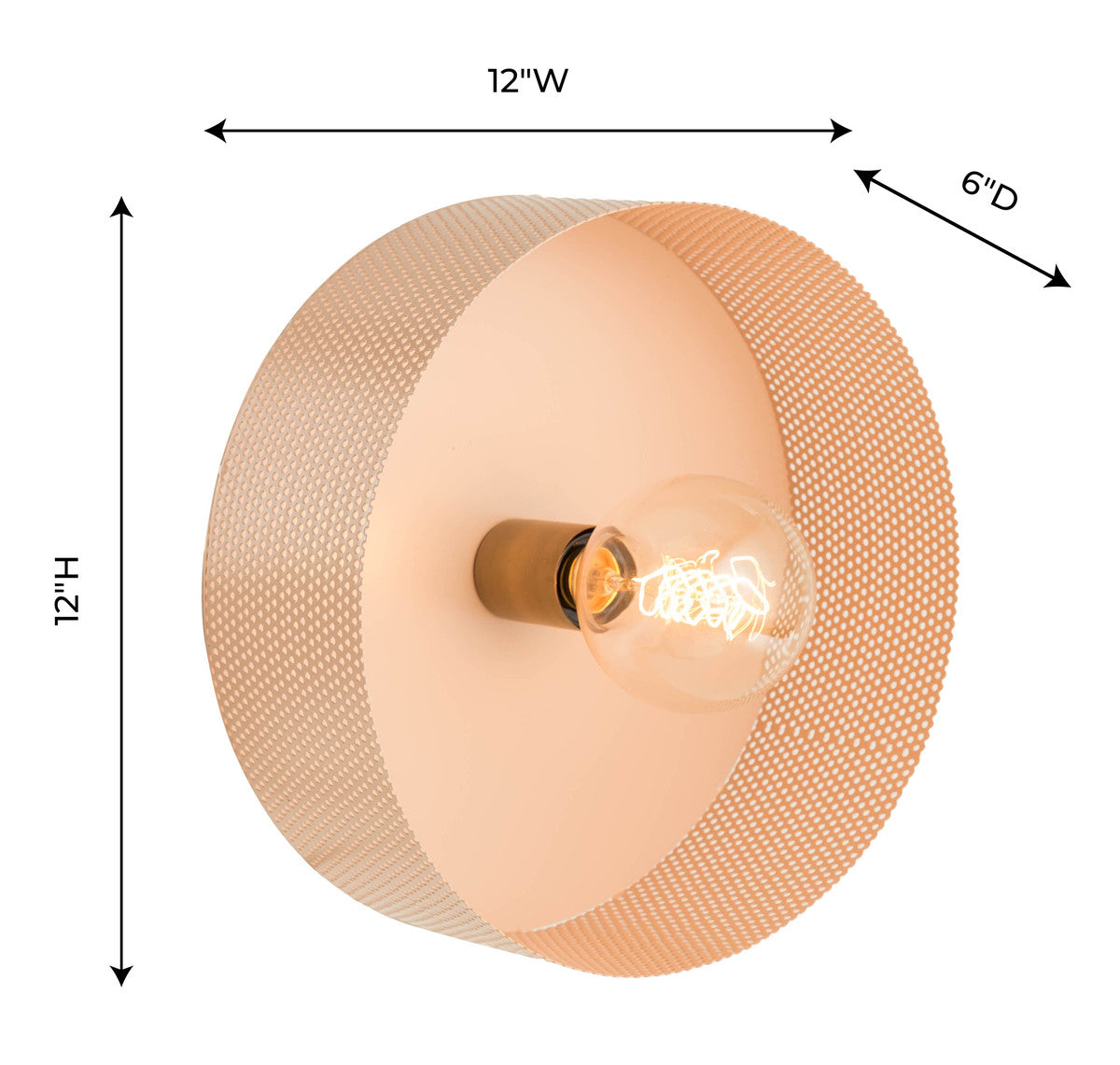 Mokhtar Blush Round Wall Sconce