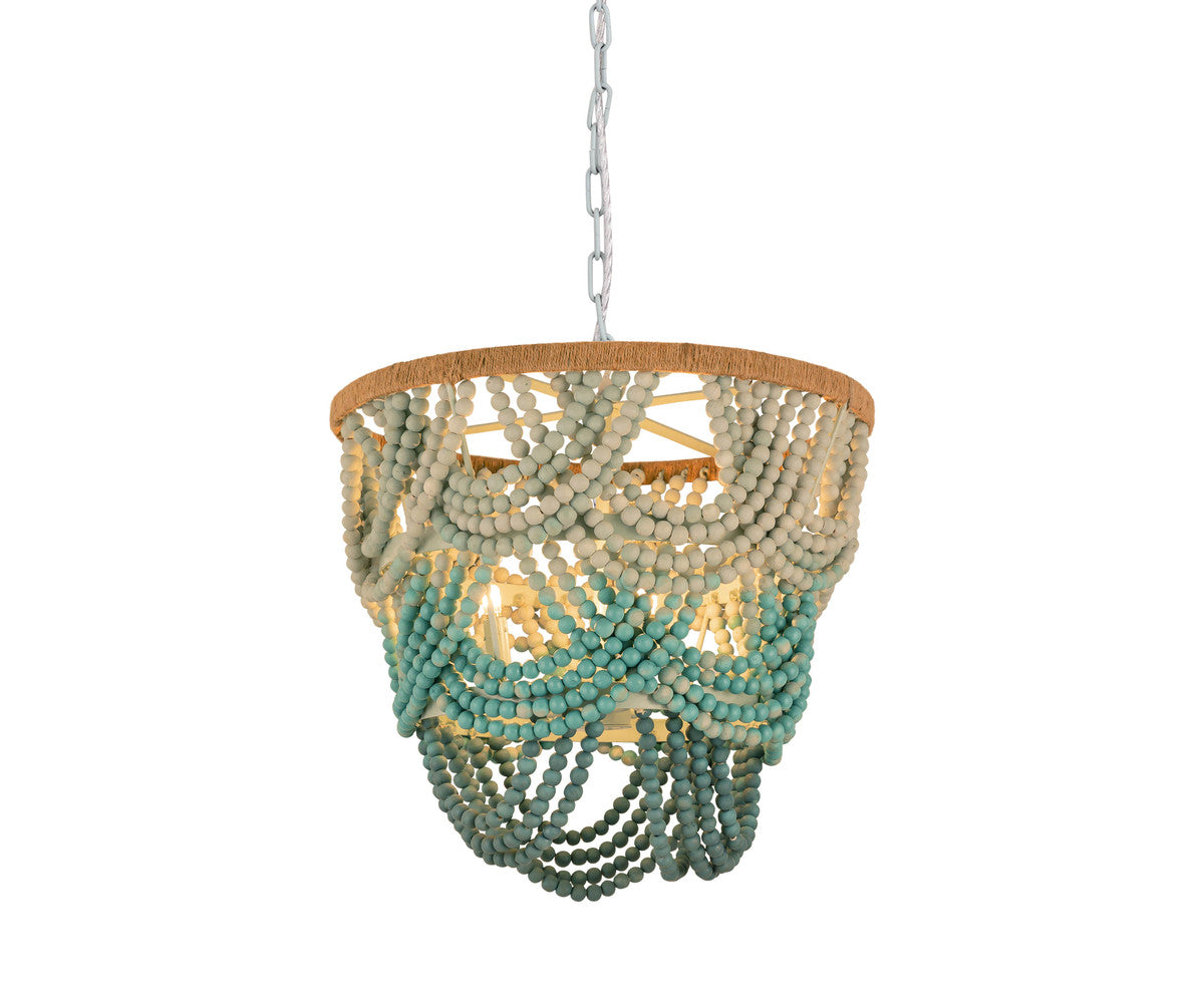 Jade Beaded Chandelier